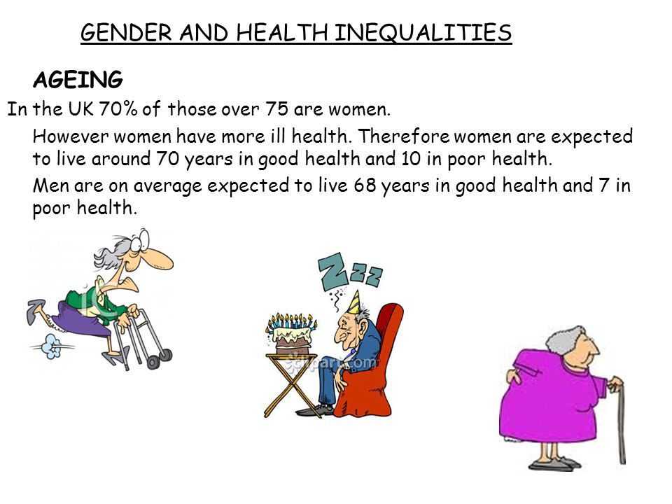 GENDER AND HEALTH INEQUALITIES