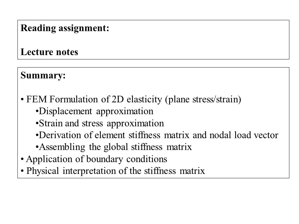 MANE 4240 & CIVL 4240 Introduction to Finite Elements - ppt