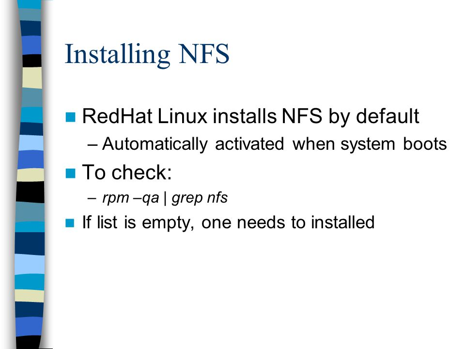 Remote Disk Access with NFS - ppt download