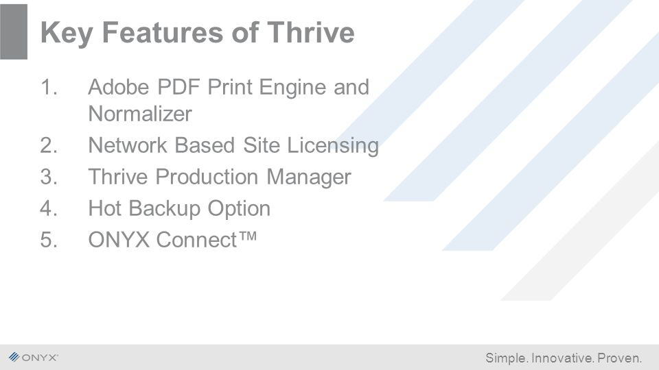 ONYX Product Portfolio RIP, Textile, Workflow - ppt download