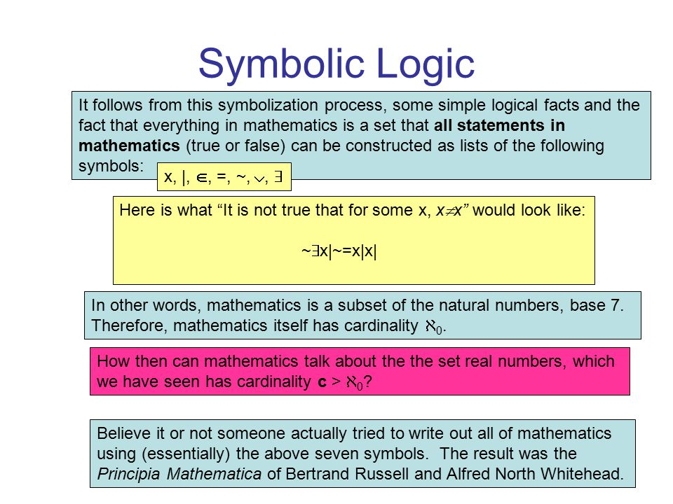 Survey Of Mathematical Ideas Math 100 Chapter 3 Logic Ppt Video