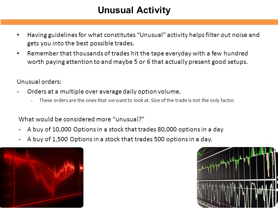 Unusual Options Activity Master Course - ppt video online