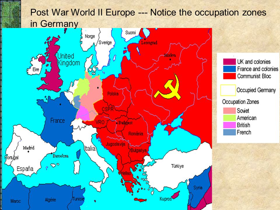 Map Of Germany Occupation Zones.Chapter 28 The Era Of The Second World War 1939 Ppt Download