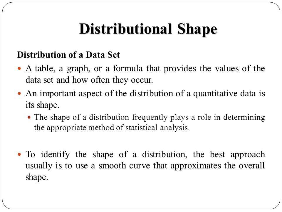 Distributional Shape Distribution of a Data Set