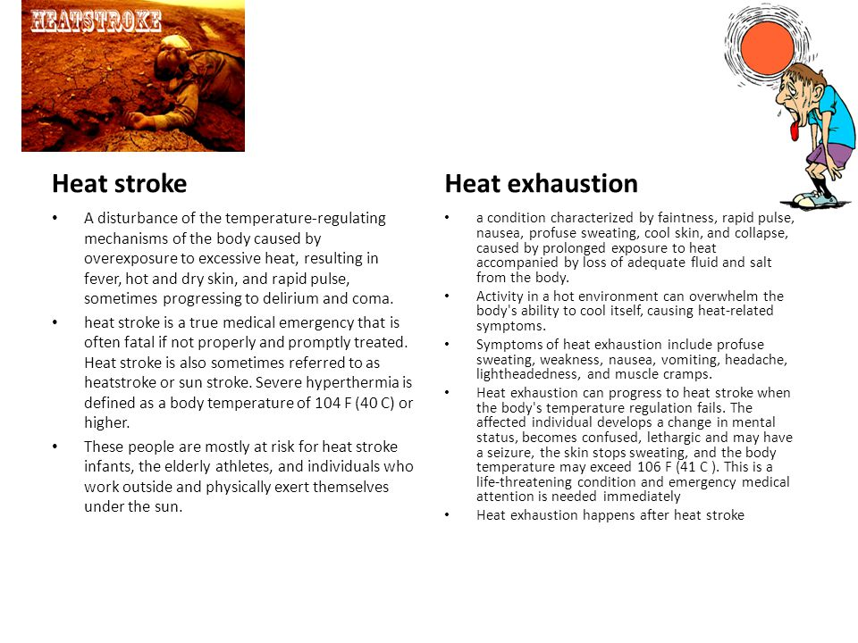 Drowning victim, heat stroke, heat exhaustion - ppt video