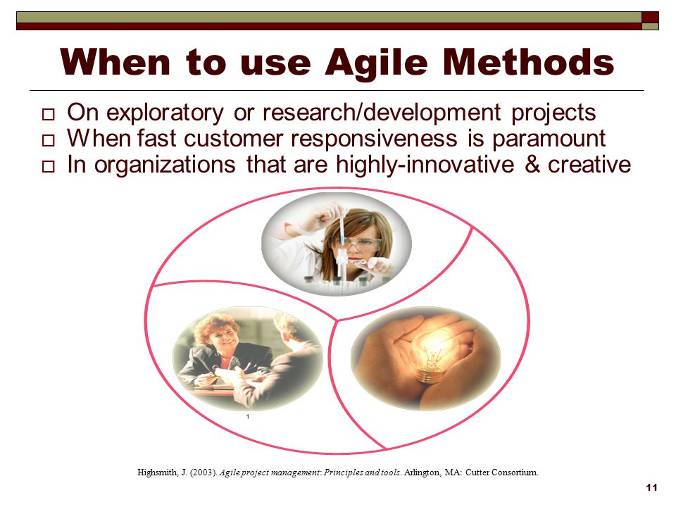 When to use Agile Methods