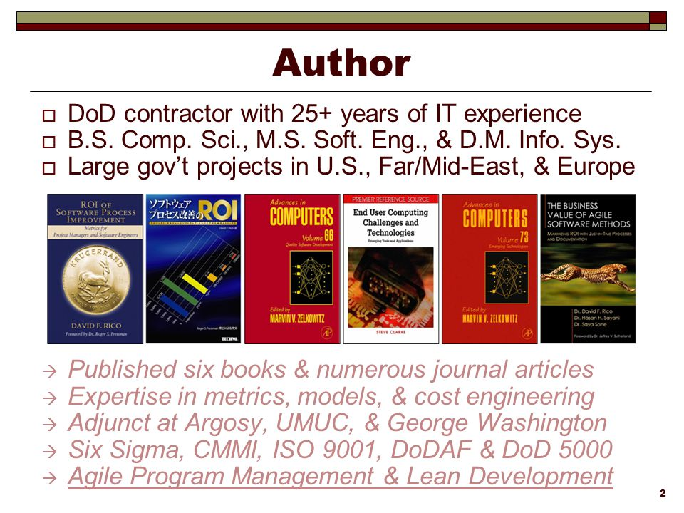 Author DoD contractor with 25+ years of IT experience