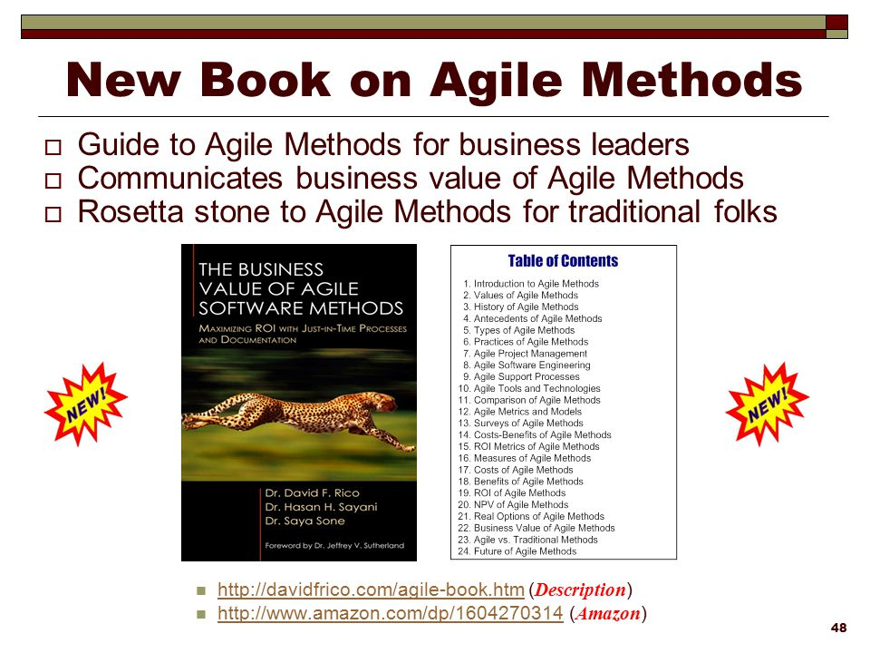 New Book on Agile Methods