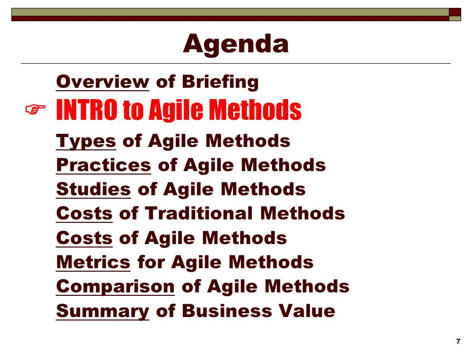 INTRO to Agile Methods