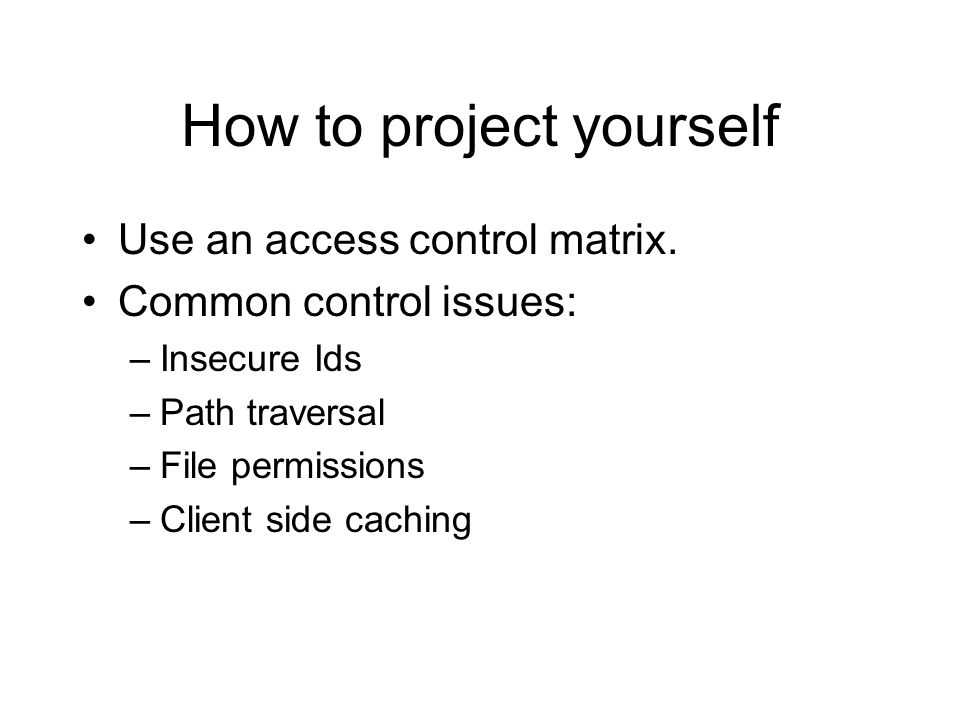 How to project yourself