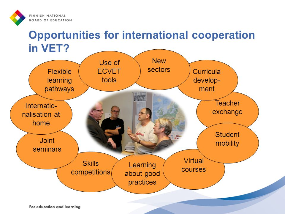 Opportunities for international cooperation in VET