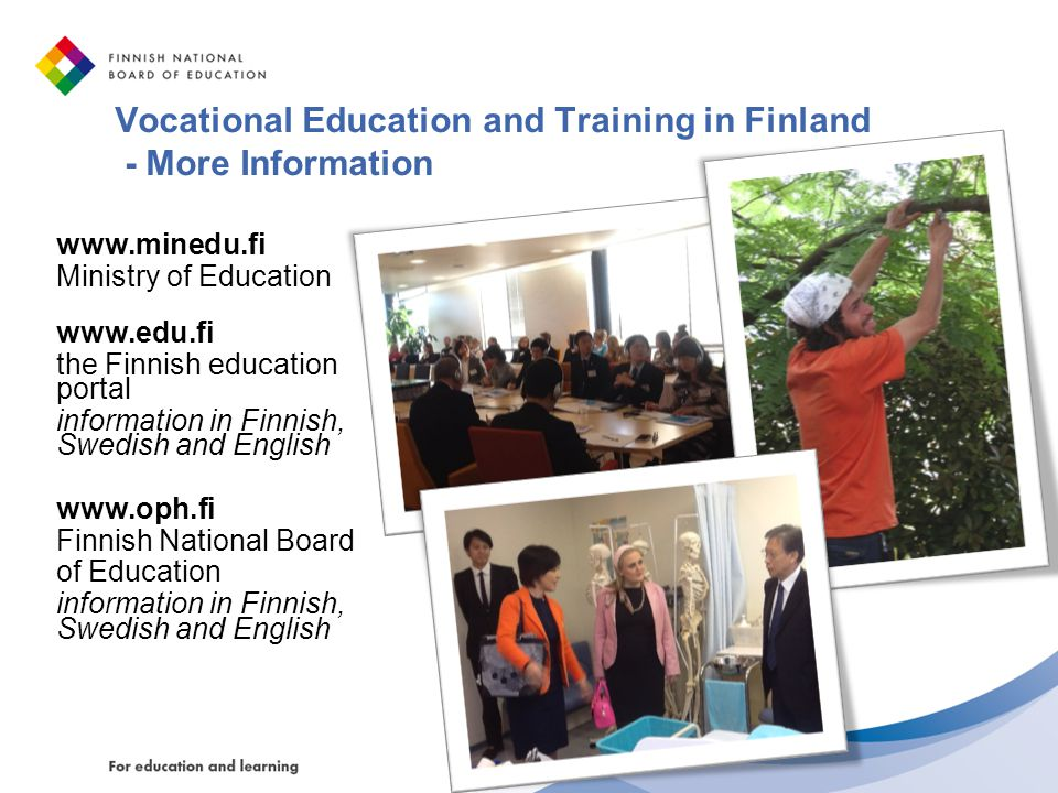 Vocational Education and Training in Finland - More Information