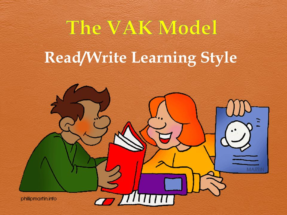 The VAK Model Read/Write Learning Style