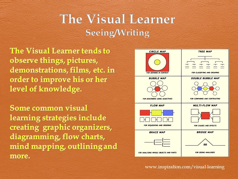 The Visual Learner Seeing/Writing