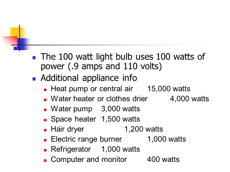 Additional appliance info
