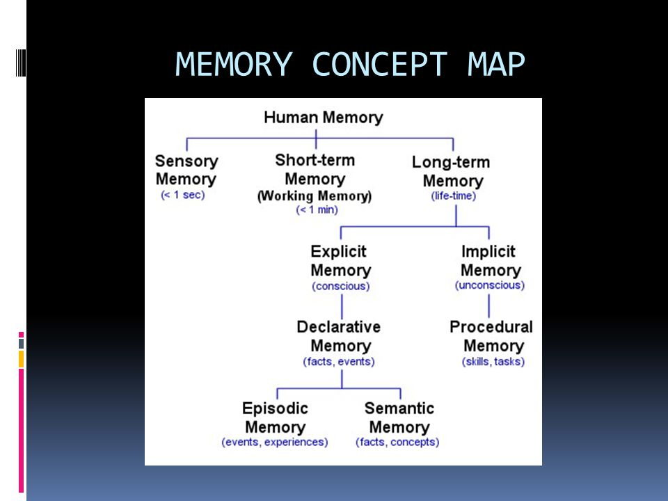 Memory Concept Map.Memory And Thought Ppt Video Online Download