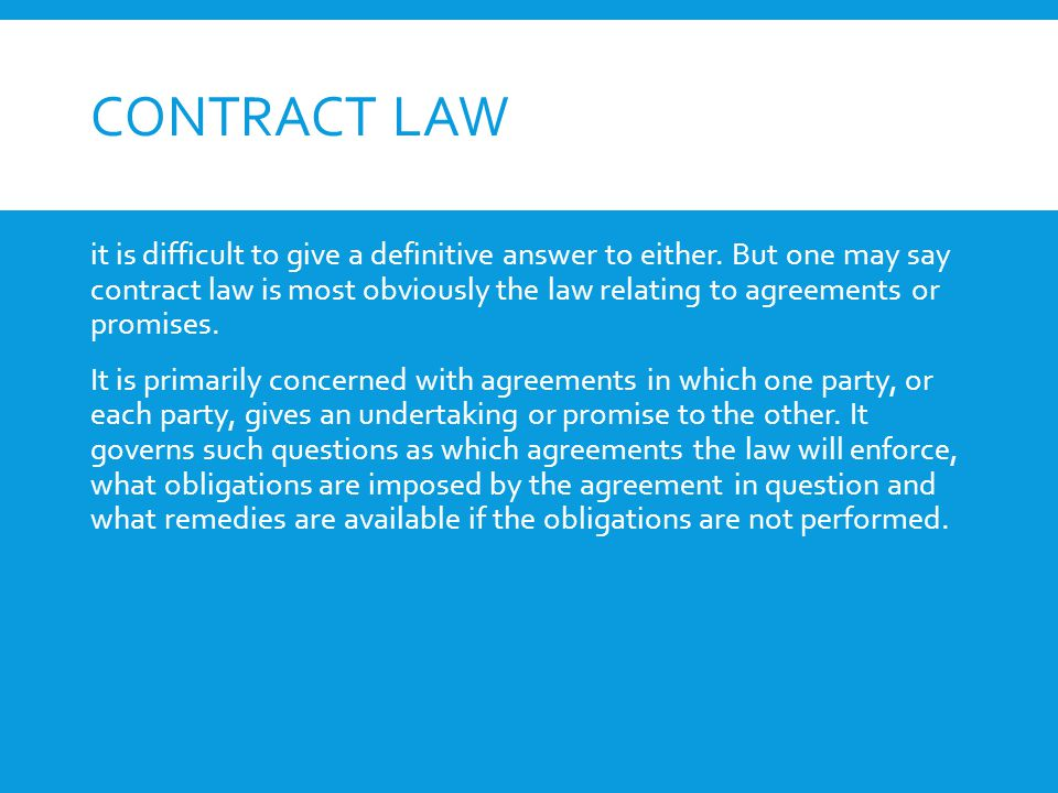 Contracts Definition Of Contract Purpose Of Contract Scope Of