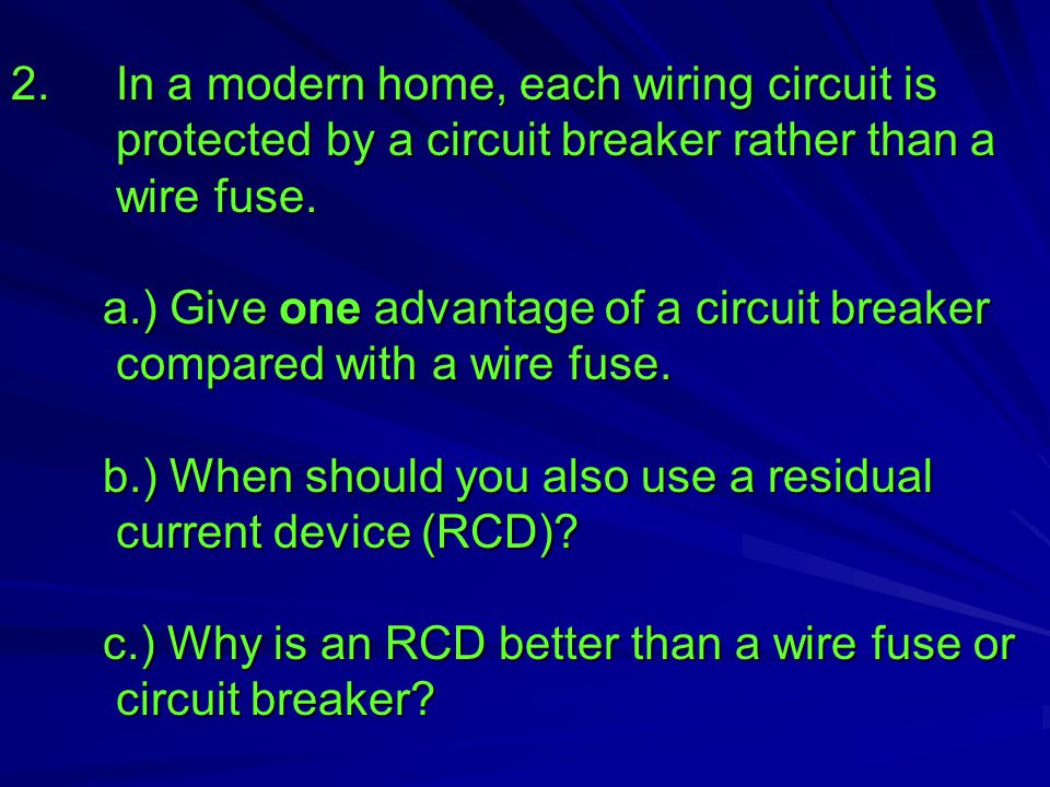 Lesson.5: Fuses and Safe Plugs - ppt video online download on zener diode circuits, home electrical system, home electrical circuits, cool circuits, lm324 circuits, home electrical components,