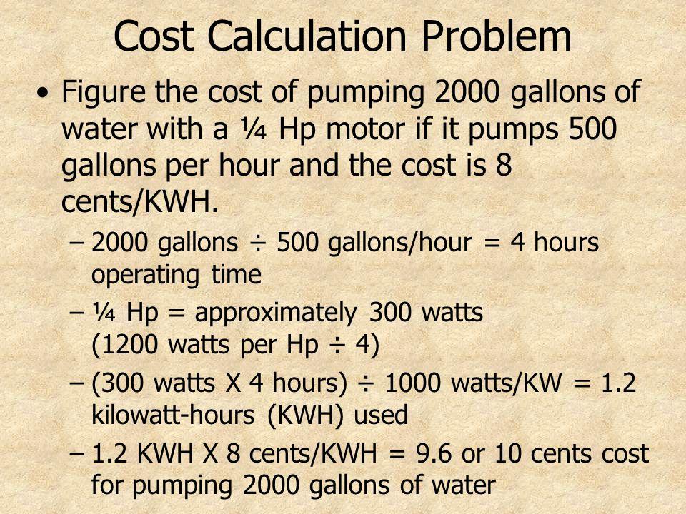 8 Cost Calculation Problem
