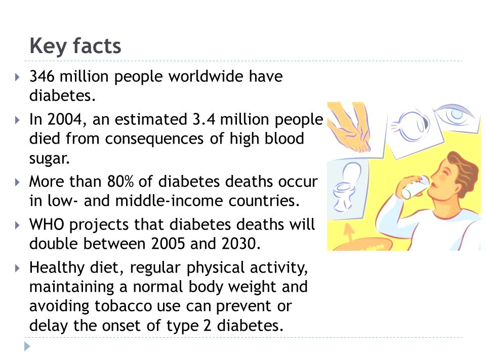 Key facts 346 million people worldwide have diabetes.