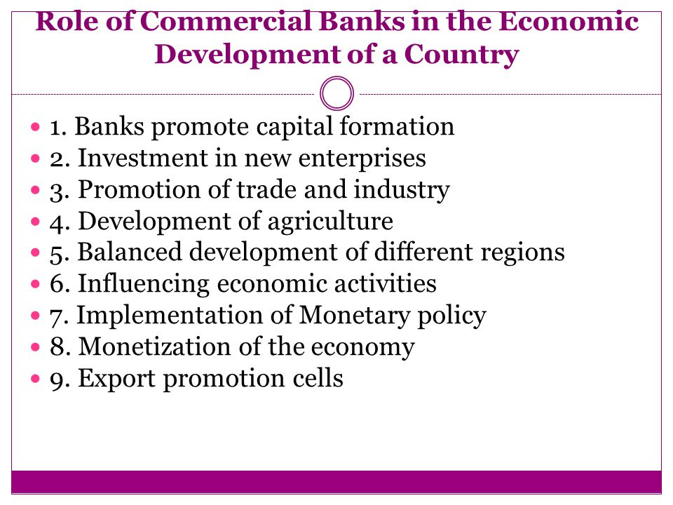 activities of commercial banks