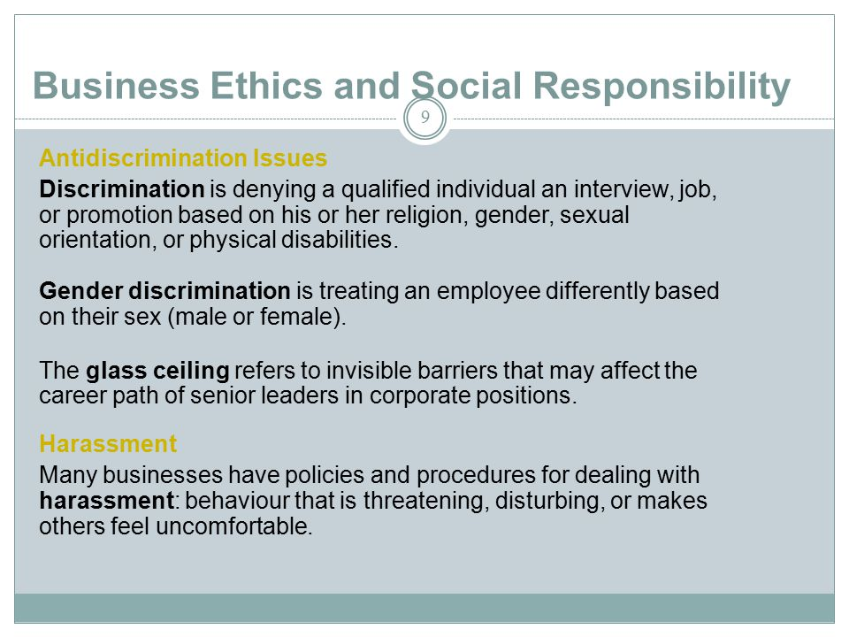 ethical harassment definition
