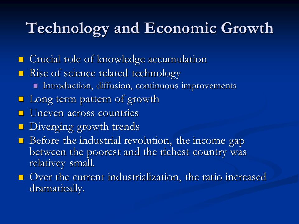 technology and economic development