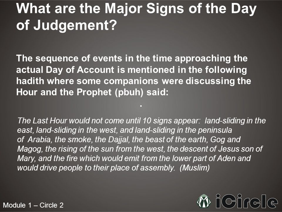 What are the Major Signs of the Day of Judgement