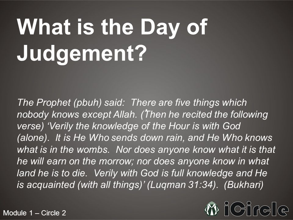 Signs before the Day of Judgement - ppt video online download