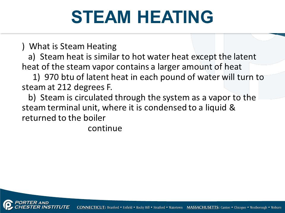 STEAM HEATING ) What is Steam Heating