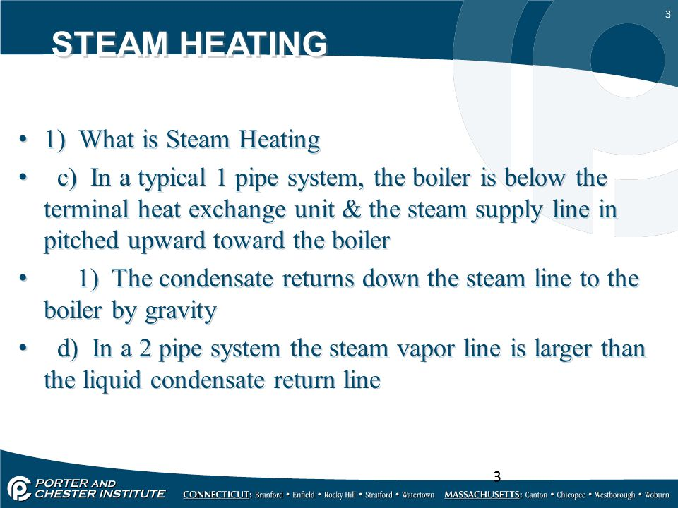 STEAM HEATING 1) What is Steam Heating