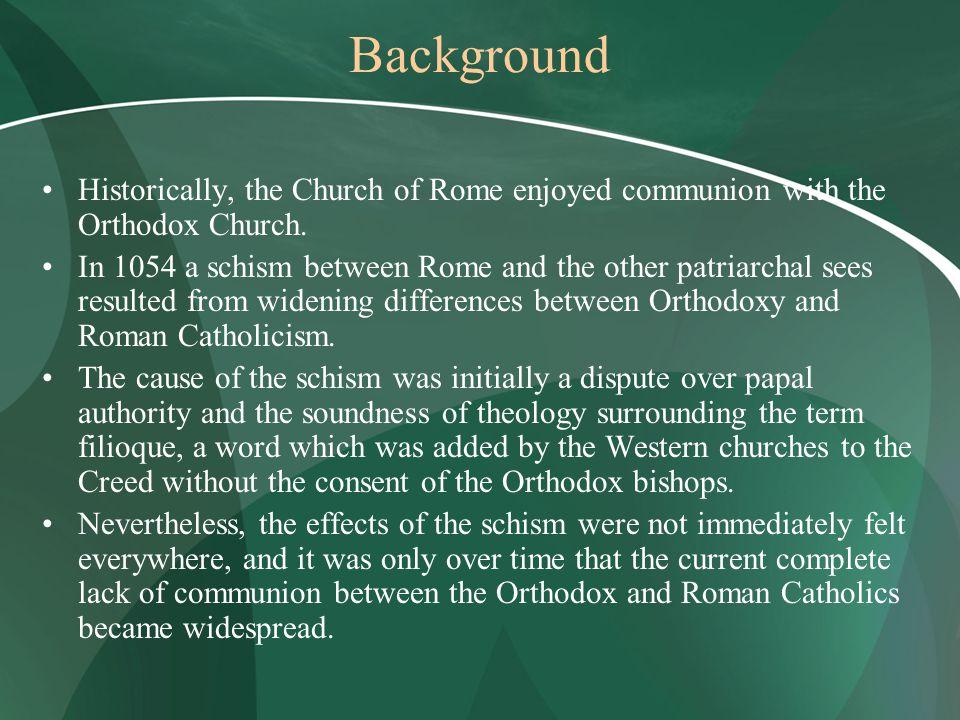 difference between roman catholic and orthodox catholic