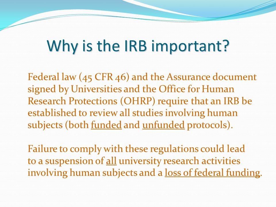 Why is the IRB important