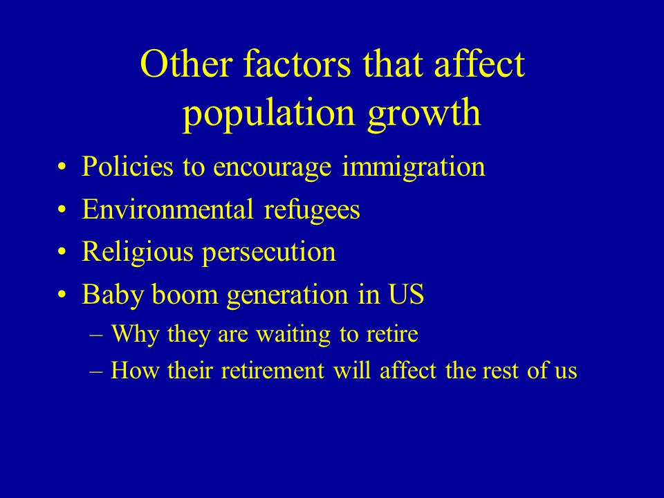 Other factors that affect population growth