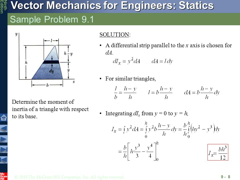 Distributed Forces: Moments of Inertia - ppt video online