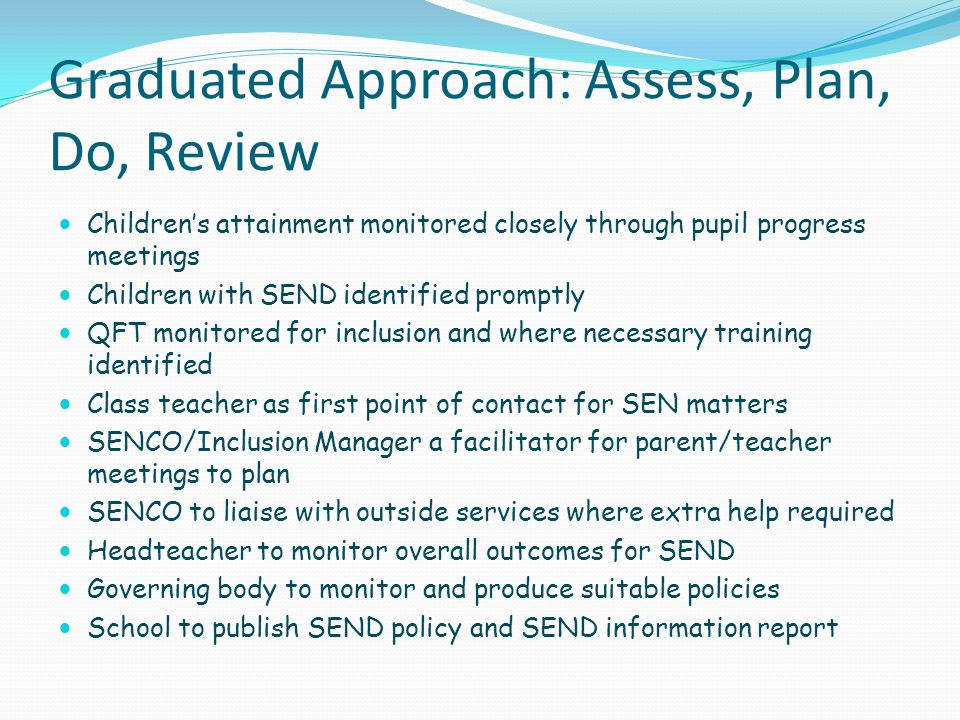 Graduated Approach: Assess, Plan, Do, Review