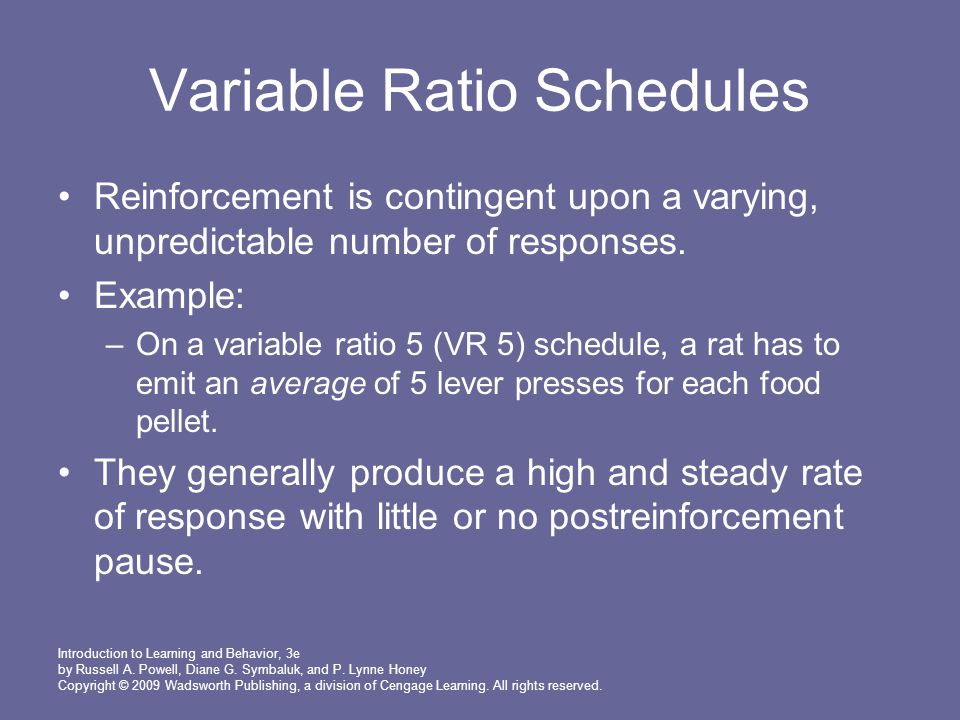Chapter 7 Schedules And Theories Of Reinforcement Ppt Download
