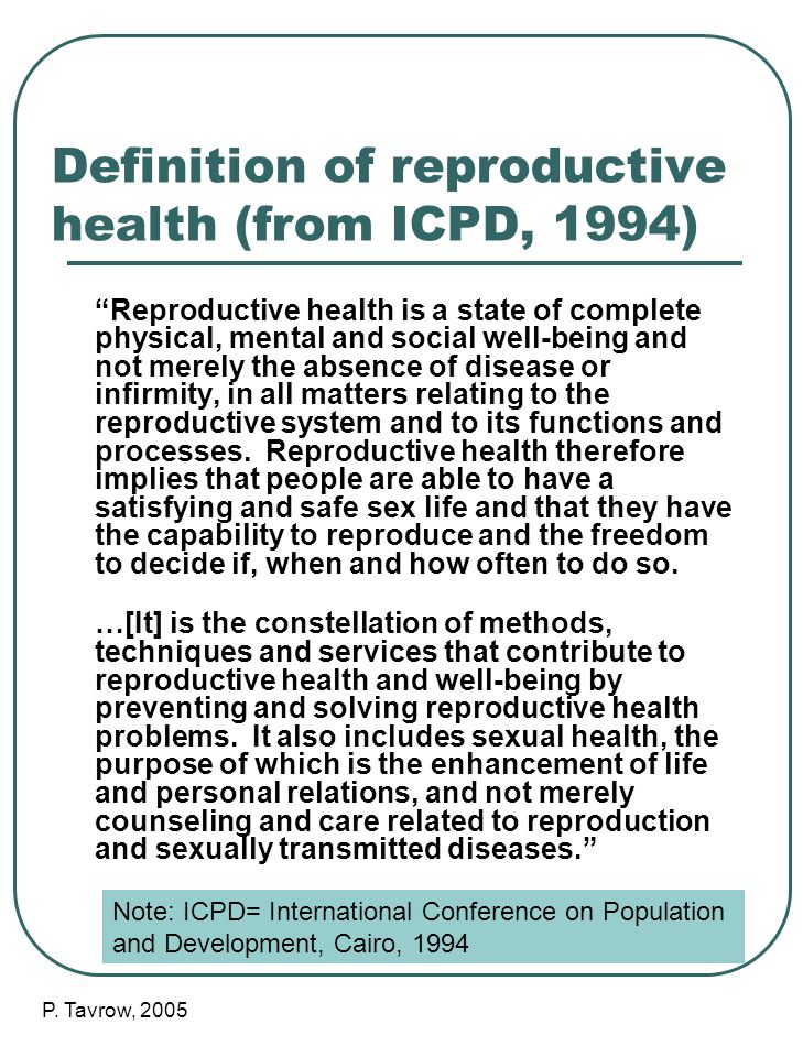 Icpd definition of sexual and reproductive health