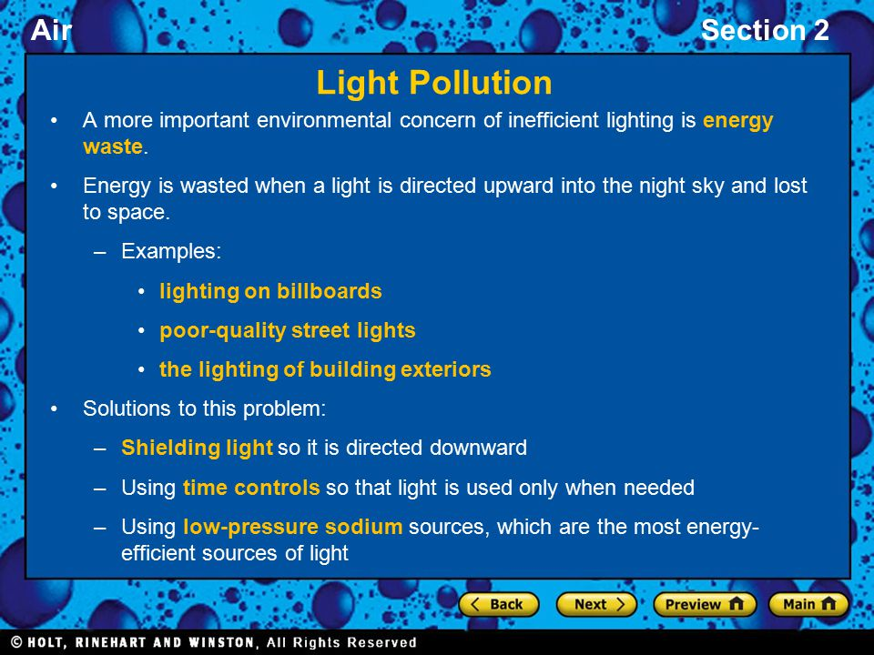 Section 2: Air, Nose, and Light Pollution - ppt video online
