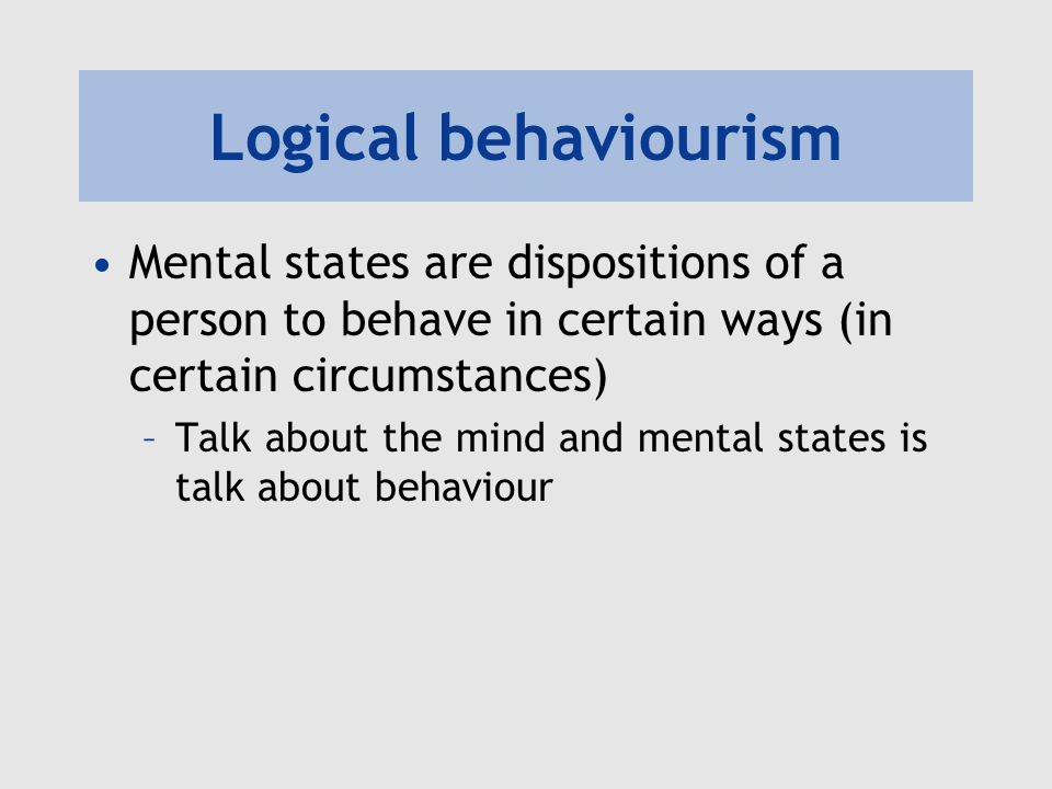 logical behaviorism philosophy