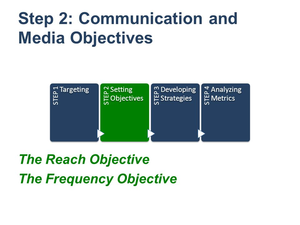 Step 2: Communication and Media Objectives