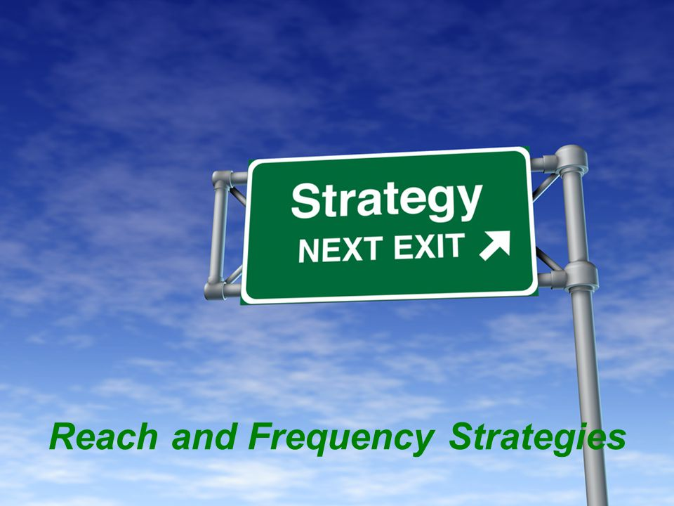 Reach and Frequency Strategies