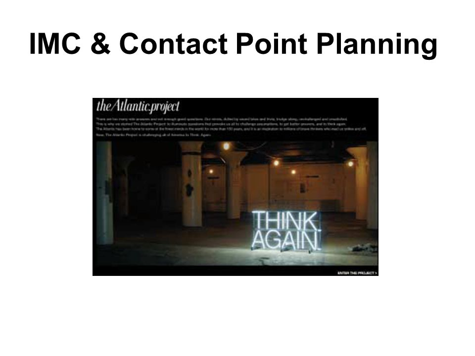 IMC & Contact Point Planning
