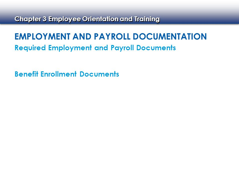 Employment and Payroll Documentation