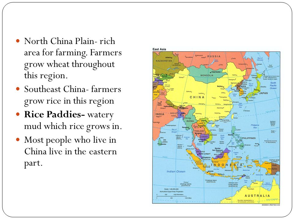 North China Plain- rich area for farming