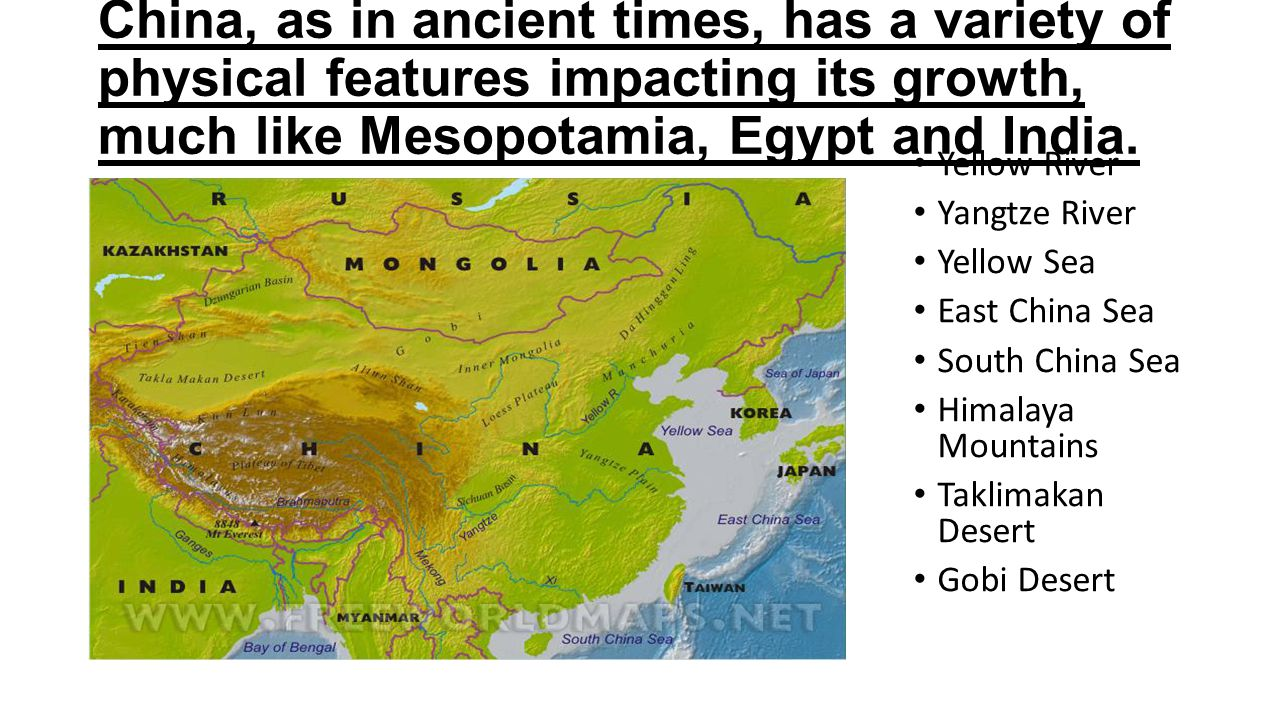 Geography and early history ppt video online download china as in ancient times has a variety of physical features impacting its growth altavistaventures Images