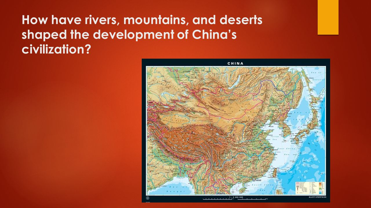 How have rivers, mountains, and deserts shaped the development of China's civilization