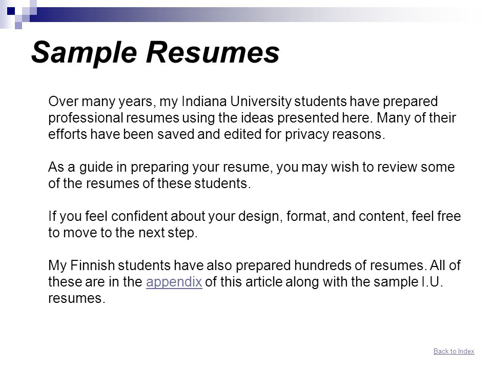 Networking Resume Guide Index Ppt Download