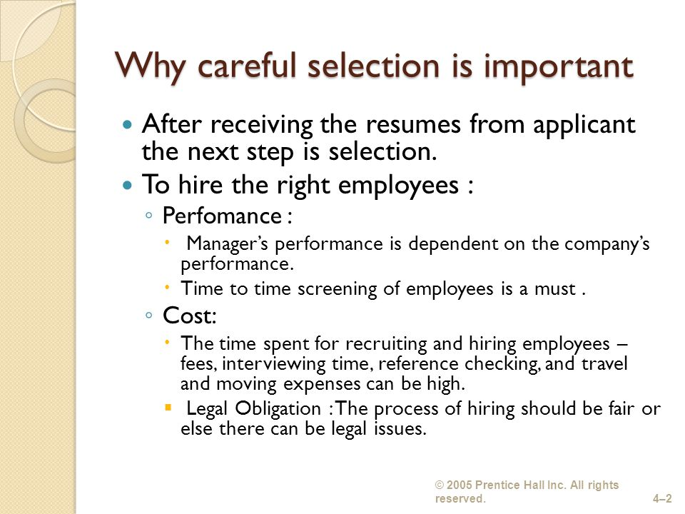 importance of employee selection