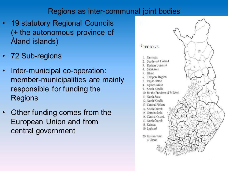 Regions as inter-communal joint bodies